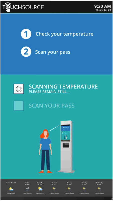 TouchSource Wellness Kiosk with Employee Screening