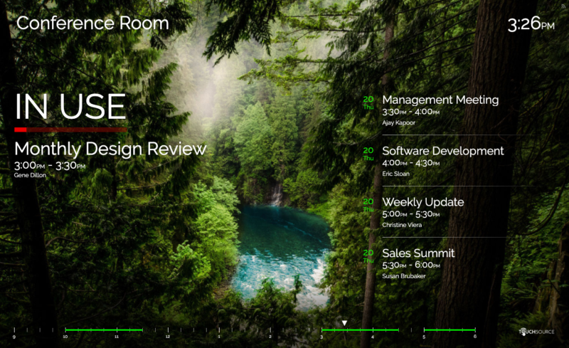 TouchSource SharedSpaces Conference Room Solutions - Horizontal Forest