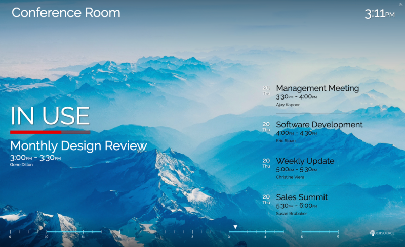 TouchSource SharedSpaces Conference Room Solutions - Horizontal Mountain