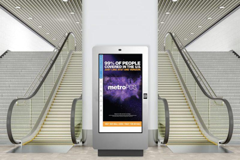 Advertising kiosk in mall