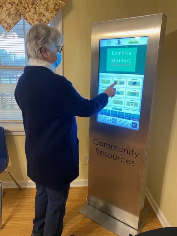 community resources digital kiosk