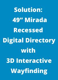 "49"" recessed digital directory solution"