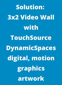 3x2 video wall with digital artwork in denver