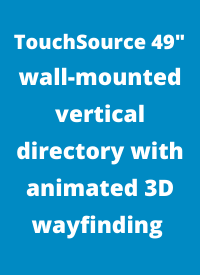 directory with animated 3D wayfinding